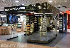Paco Rabanne pop-up store at London Heathrow airport terminal 3