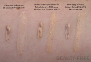 Blemish Balm cream swatches