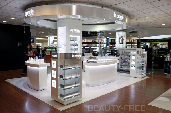 La Prairie counter at Buenos Aires International airport