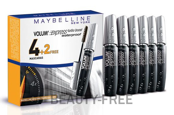 4dc17607fe1 Maybelline Sexto Volum'Express Turbo Boost Waterproof at Beauty-Free ...