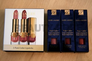 Estée Lauder 3 Pure Color Lipsticks