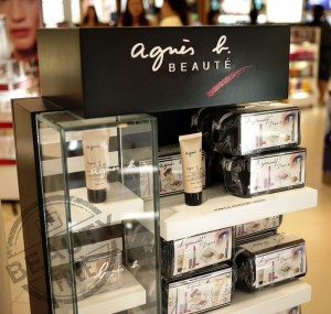 Agnès b. beauty display at Hong Kong International airport