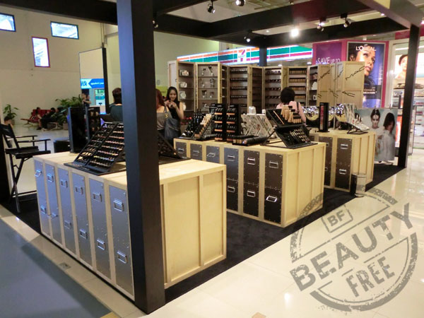 Singapore changi airport at beauty-free - cosmetics and fragrances available only in duty-free.
