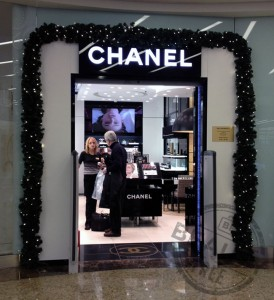 Chanel beauty boutique at Moscow Sheremetyvo airport