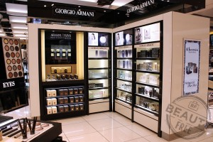 Armani Beauty counter at London Heathrow T5